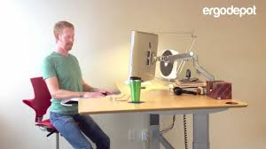 Workfit D Sit Stand Desk by Sit Stand Desk Demonstration Youtube