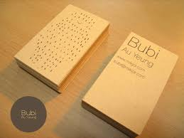 Recycle Paper Business Cards Business Card Bubi Au Yeung