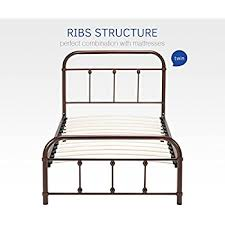 amazon com greenforest twin size bed frame with headboard and