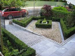 Front Lawn Landscaping Ideas Modern Front Yard Landscaping House Design With Stone And Concrete