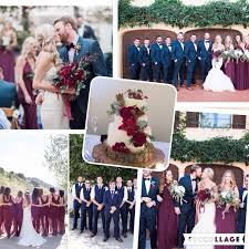wedding colors silver and burgundy wedding colors