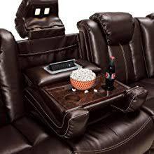 Home Theater Sofa by Amazon Com Lane Omega Leather Gel Home Media Sofa Power Recline