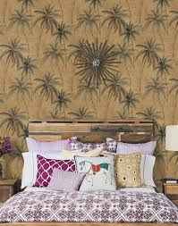 banana tree green tropical plants pure paper wallpaper backdrop