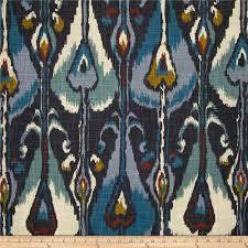 Robert Allen Drapery Fabric Robert Allen Home Ikat Bands Indigo Discount Designer Fabric