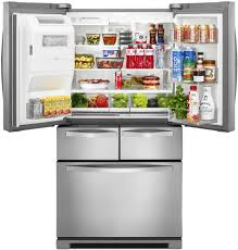 Refrigerator With French Doors And Bottom Freezer - whirlpool wrv996fdem 36 inch 4 door french door refrigerator with