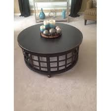 Signature Design By Ashley Marimon Black Round Cocktail Table Free