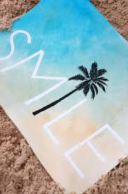 smile palm tree wall art hand painted watercolor print perfect
