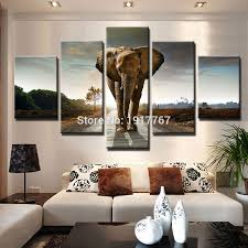 Elephant Home Decor Large Modern Printed Elephant Painting Picture Wall Art Home Decor