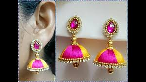 earrings image simple and beautiful silk thread earrings available at www