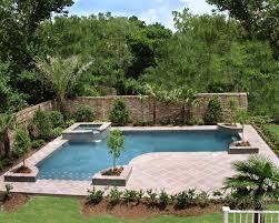 Pool Patio Decorating Ideas by Inground Pools Designed For Backyard Living Residential Gallery