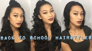 simple hairstyles with one elastic 3 back to school hairstyles using only 1 hair tie thatssoyin