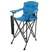 outdoor solutions tall boy blue folding chair shop furniture at heb