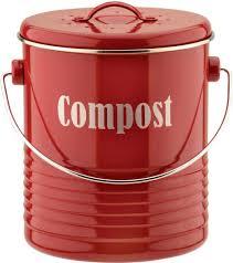 amazon com typhoon red compost caddy 2 6 quart capacity home