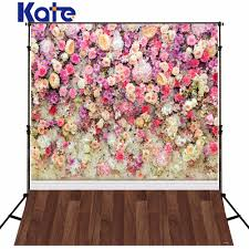 kate 8x8ft flower wall wedding backdrops vintage floral wood floor