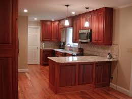 mid century kitchen cabinets magnificent cherry red mahogany cabinets with white porcelain