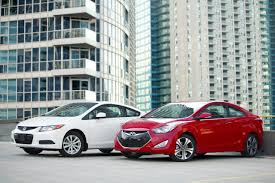 nissan sentra vs hyundai elantra 2013 hyundai elantra coupe vs 2012 honda civic coupe youtube