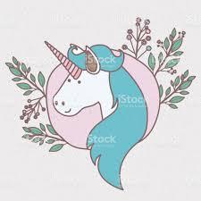 imagenes de unicornios en caricatura marco colorido con la caricatura de rostro de unicornio con melena