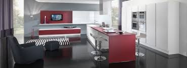 new modern kitchen design with red and white cabinets ego by