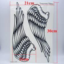 1pcs big cool mens black wing tattoos beautiful arm back wings