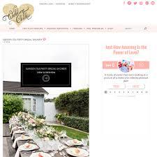 san diego bridal shower published on wedding