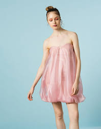balloon dress strapless balloon dress bsb fashion