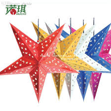 New Year Craft Decorations by Wholesale 30cm Paper Lamp Cover Christmas Five Pointed Star