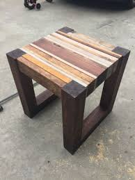 Scrap Wood Side Table  Free DIY Tutorial Wood Side Tables - Small table design