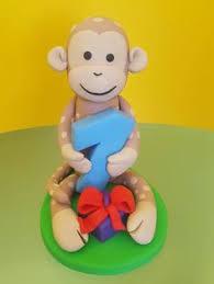 1st birthday boy cake topper monkey cake topper monkey figurine