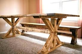 rustic dining table with bench reclaimed trestle table rustic trestle table trestle dining table