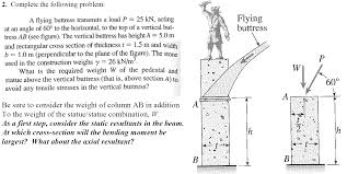 complete the following problem a flying buttress chegg com