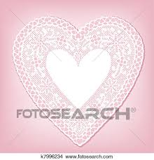 heart doily clipart of antique white lace heart doily k7996234 search clip