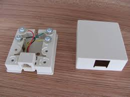 dual port telephone surface mount box connection 6p6c with
