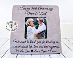 30th anniversary gifts for parents 30th anniversary etsy