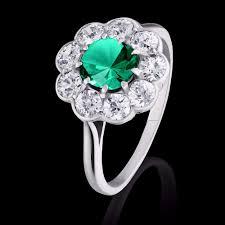 flower emerald rings images Emerald and diamond flower ring 940 jpg