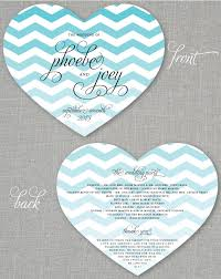 fan shaped wedding programs 100 phoebe teal chevron heart shaped wedding by cricketprinting