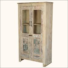 furniture distressed wooden tall storage cabinet with door panel