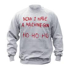 halloween movie shirt now i have a machine gun sweater movie jumper film sweatshirt