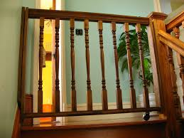 Child Safety Gates For Stairs With Banisters Wood Baby Gates Home Design By Larizza