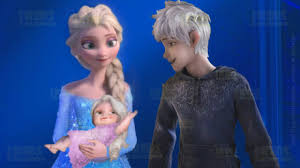 frozen princess elsa and jack frost with little baby puzzle game