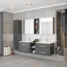 double sink wall hung vanity unit sonix 1500 wall hung double basin vanity unit grey buy online at