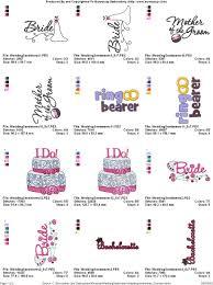 Wedding Sentiments Machine Embroidery Designs Wedding Sentiments Bunnycup Embroidery