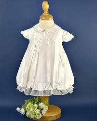 girls cream silk christening dress by pretty originals designer