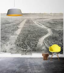 old manhattan vintage nyc map wall mural milton king old manhattan