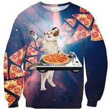 cat sweater dj pizza cat sweater shelfies
