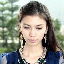 mismatched earrings asymmetrical dangle earrings charm rhinestone mismatched dangle earrin