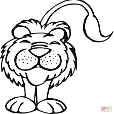 smiling lion coloring page free printable coloring pages