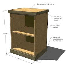 Build A Wood Table Top by Ana White Build Your Own Office Narrow File Drawer Base Unit