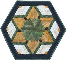 quilted square table toppers log cabin table toppers