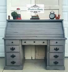 Corner Roll Top Desk Office Desk Oak Office Desk Small Desk Solid Wood