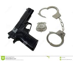 police badge gun and handcuffs royalty free stock photo image